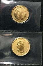 2014 CANADA ARCTIC FOX & QUEEN--$10 GOLD BU ENCASED 1/4 OZ .9999 PURE GOLD COIN