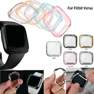 Silikon TPU Schutz Hülle Tasche Cover Case Armband Für Fitbit Versa DHL