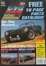 Kitcars International magazine 07/1995 featuring Midas, Metaline, Sylva, Lomax