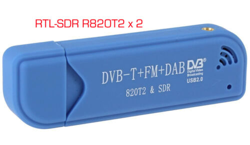 TWO 2 R820T2 RTL-SDR Software Defined Radio receivers with RTL2832U