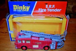 Dinky The Cast Toys Erf Fire Tender Engine, 1977;