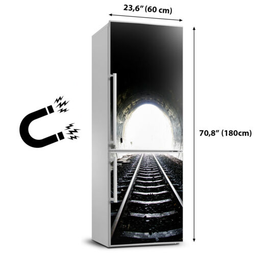Details about  /Magnet Sticker Refrigerator removable Architecture Railway tunnel