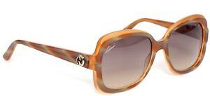 e7ca6b21fa Gucci Women s GG 3190 0s0 Honey Brown Square Plastic Sunglasses 55 ...