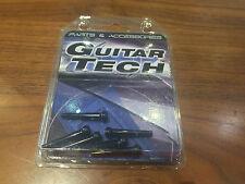 QUALITY Guitar Tech gt607 Nero Bridge Pin Ridotto a Trasparente Rrp 6.99