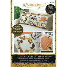 Gather Together Bench Pillow Embroidery CD Kimberbell Designs KD528