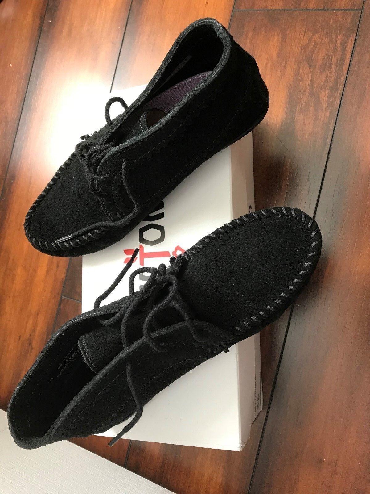 Nuevo En Caja Negro Gamuza Tobillo botas Minnetonka para mujeres mujeres mujeres zapatos talla 6.5  gran venta