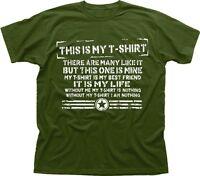 Tshirt Creed Full Metal Jacket parody funny this is my rifle green tshirt TC9490