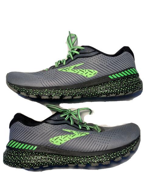 Brooks Adrenaline GTS 20 Men's Running Shoes Sz 9.5 Daily Trainer Green Black