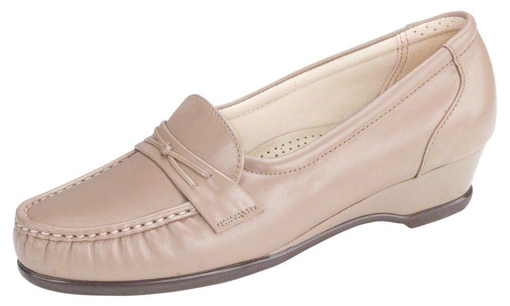 Women's Size 8.5 N AA SAS SAS SAS Easier Mocha Slip Ons Loafers San Antonio shoes 78596f