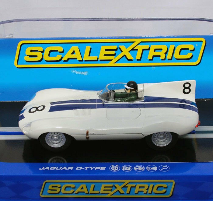 Scalextric C3308 Jaguar D-Type Sebring 12hr 1956 Slot Car 1 32