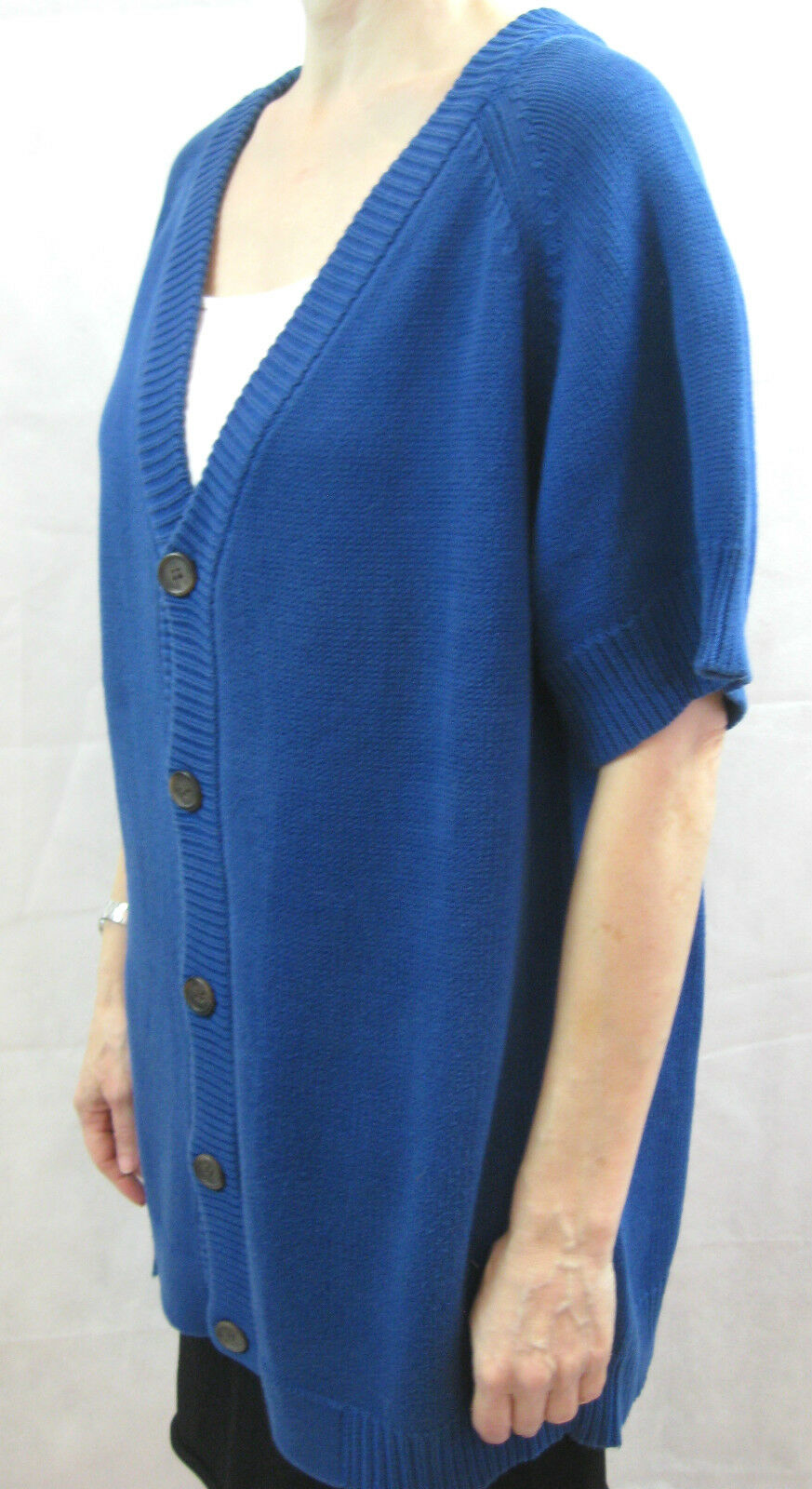 Akira One Größe OSFA Blau Cotton Chunky Knit OverGröße Cardigan