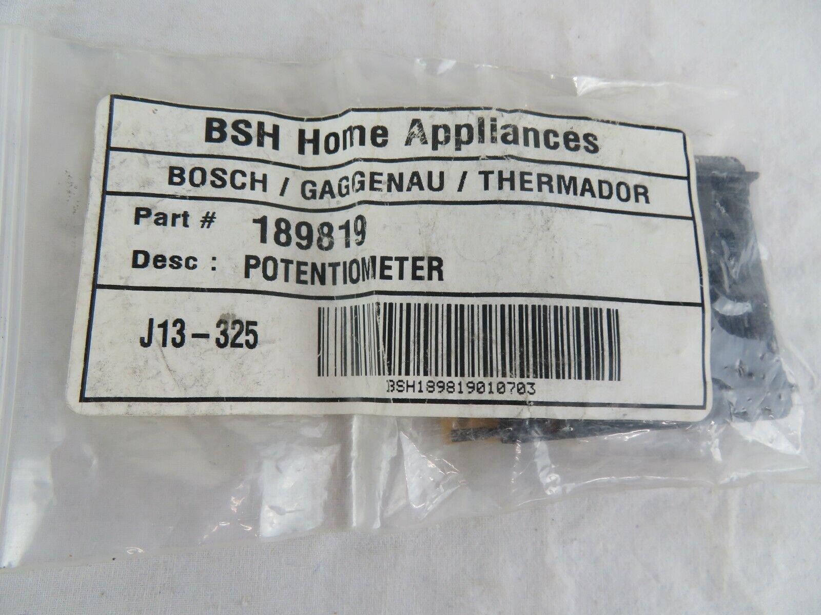 potentiometer for cooktop bosh,thermador.part# 962061