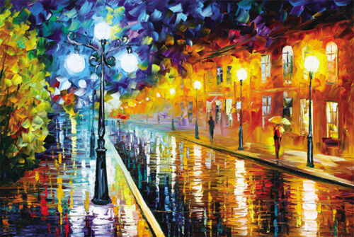 1000 Piece Deluxe Jigsaw Puzzle Romantic Walk Wander in Rainy Night SM1006
