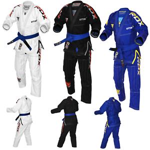 RDX BJJ GI Jiu Jitsu Suit Lightlight Kimono Apparel Vuxna Uniform BälteKarate