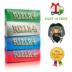 RIZLA-Regular-RED-GREEN-SILVER-BLUE-WHITE-or-PINK-Cigarette-Rolling-Papers