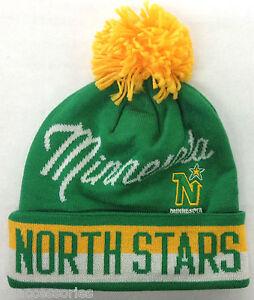 8e2ca4672 NHL Minnesota North Stars Reebok CCM Vintage Pom Winter Knit Hat Cap ...