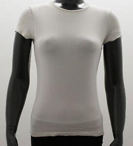 Schoenes-H-amp-M-Damen-T-Shirt-Top-Weiss-Rosa-Basic-Kurzarm-Gr-S-34-36-TOP
