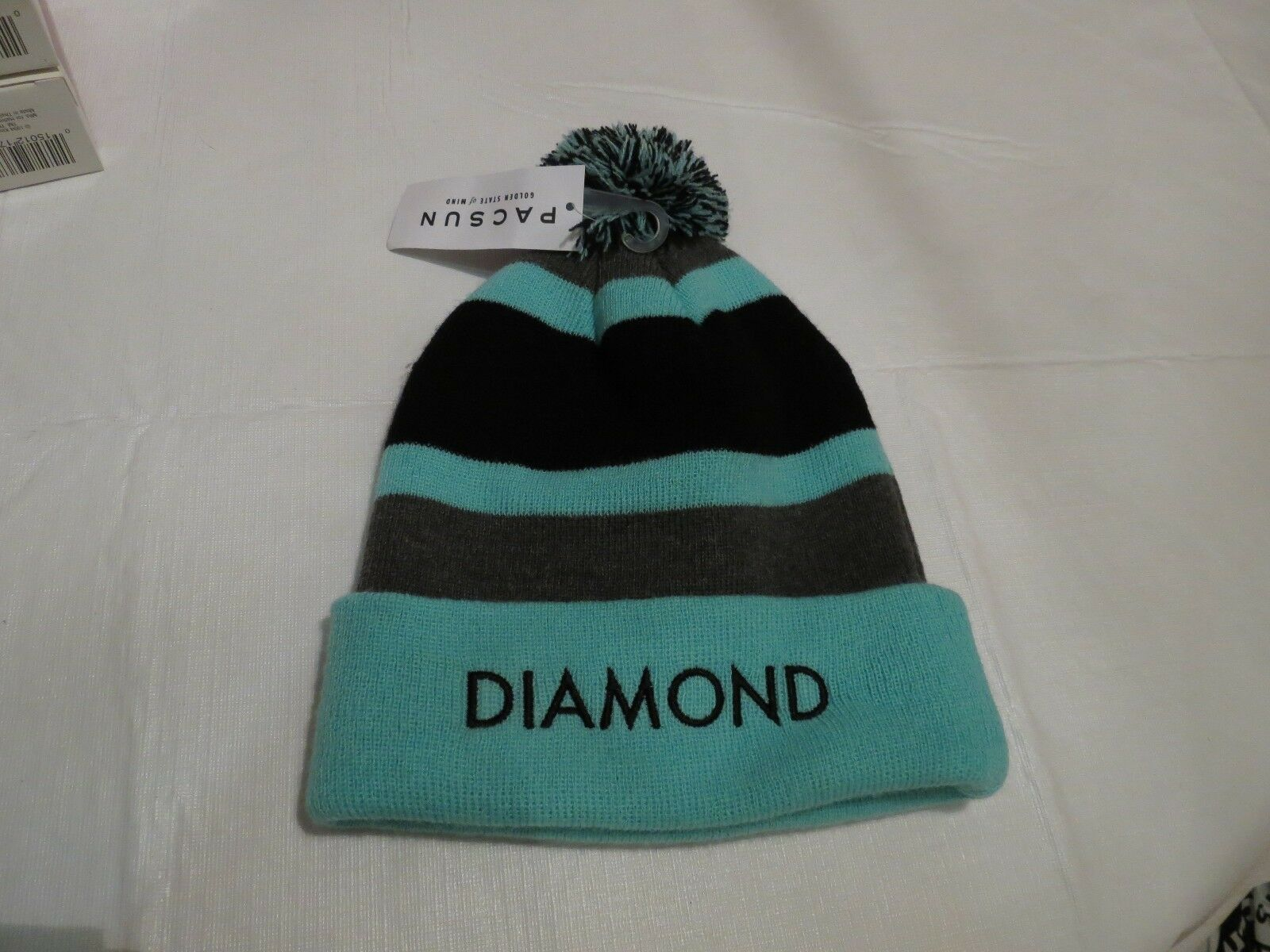 Diamond Supply Co beanie knit hat cold cap NEW RARE winter cold hat weather mint black gr 957841