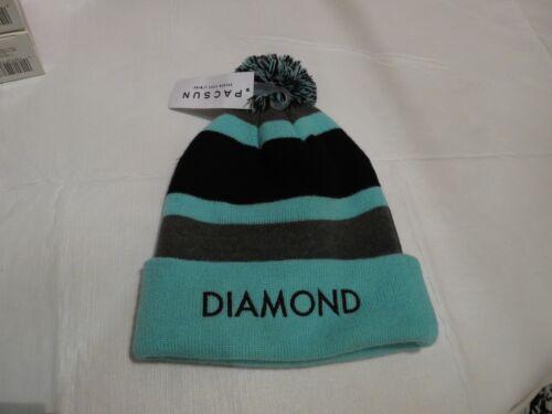 Diamond Supply Co Bonnet en Tricot Chapeau Bonnet Neuf Rare Hiver Temps Froid Menthe Noir Gr