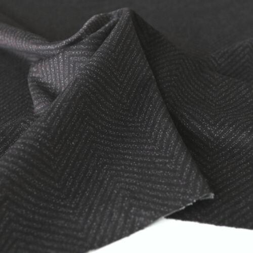 Universal Polster-Bekleidungsstoff Weich Fischgrat Muster Schwarz Meterware