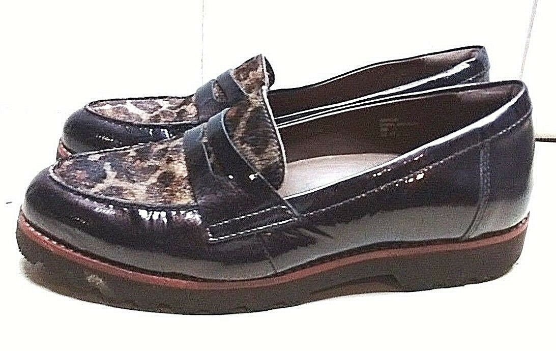 Earthies Braga Leder Braun Penny Loafer Apron Toe Damens Dress Dress Damens Casual Schuhes 8 B 2c7b33
