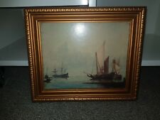 National Gallery Dubbels Ship Builder Framed Art Print On Board Gold Frame