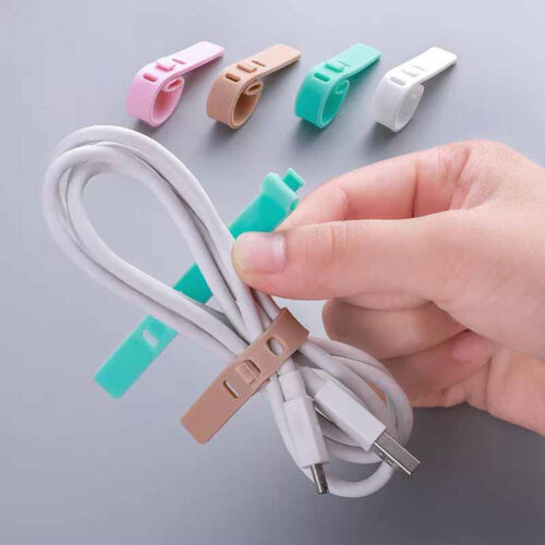4x cable winder silicone cable organizers wire wrapped cord line storage hold xc