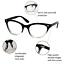 CAT-EYE-Eyeglasses-BAMBI-034-Ombre-034-Women-Tortoise-BLACK-Gradient-Shadz-GAFAS thumbnail 3