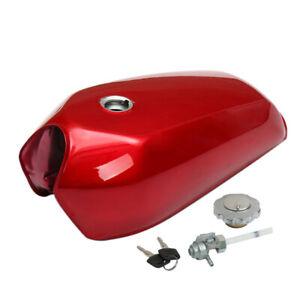 9L/2.4 Gallon Vintage Motorcycle Cafe Racer Seat Fuel Gas Tank & Cap Switch 1PCS