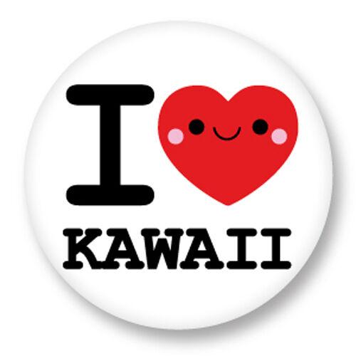 Porte clé Keychain Ø45mm ♥ I Love You Heart Coeur J/'aime Kawaii