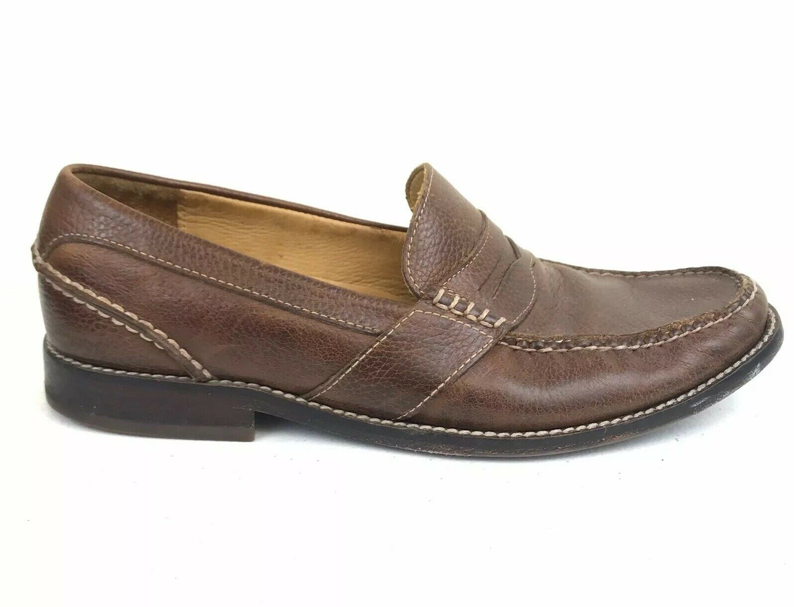 Sperry Top Sider gold Cup Leather Penny Loafer Mens Size 10.5 Brown Slip On