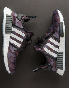 e558b1fd73740 Image is loading Adidas-NMD-R1-x-Bape-Camo-Black-Grey-