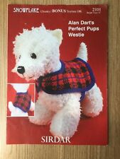 Alan Dart's Perfect Pups WESTIE dog toy knitting pattern leaflet