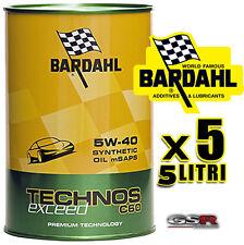 5 LITRI OLIO MOTORE AUTO BARDAHL  C60 5W40 TECHNOS TAGLIANDO