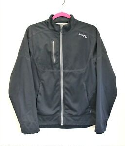 Saucony-NMD-Running-Track-Jacket-Mens-Full-Zip-Black-Size-Small-Front-Zip-Pocket