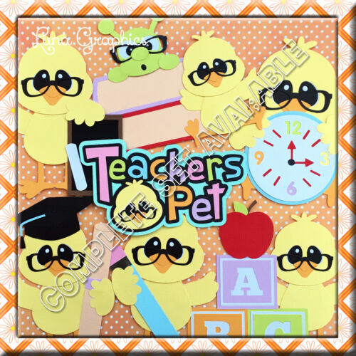 TEACHERS PET BOOKS Embellishment card toppers and scrapbooking
