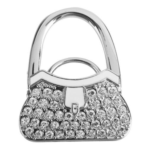 Metall Strass Faltbare Taschenhalter Handtaschenhalter Handtasche Taschenhaken x