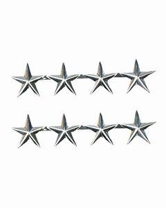 1 PAAR U.S. GENERAL 4 STAR GEN O-10  CAP HAT BADGE PINS RANKS SILBER NEU