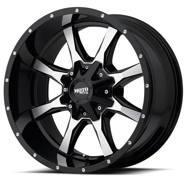 20x9 Black Moto Metal Mo970 Wheels 8x180 0 Lifted Chevrolet