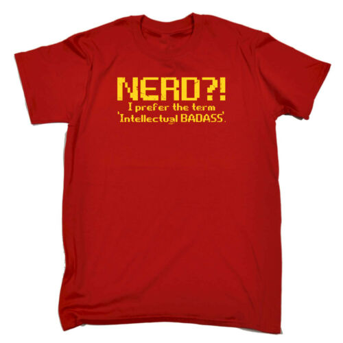 Divertenti Novità T-Shirt UOMO Tee T-Shirt-Nerd preferisco intellettuale CAZZUTO
