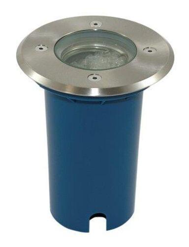 FARO INCASSO PAVIMENTO TERRA 230v 5w COB LED vetro di protezione in acciaio inox