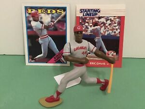 1988 Starting lineup Eric Davis figure Toy W 1988 Topps Card Cincinnati Reds MLB