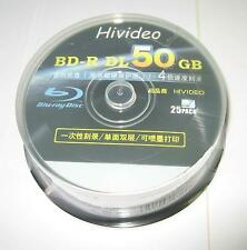 25 Packs TDK 50GB Printed Blu Ray 2-8X BD-R DL Disc For 3D Moives PS3/4 Xbox one