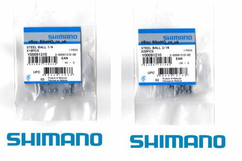 "3//16/"" /& 1//4/"" All Sizes Shimano Ball Bearings Front or Rear Wheel//Hub"