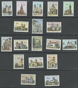 Angola-Portugal-Stamps-1963-Churches-of-Angola-MNH-OG