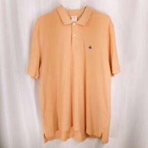 Brooks-Brothers-Mens-Short-Sleeve-Performance-Polo-Shirt-Light-Orange-Size-XL