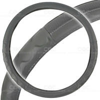 Motor Trend Big Rig Steering Wheel Cover For Truck 18 Gray Syn Leather on Sale