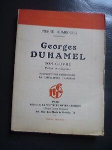 P-Humbourg-Georges-Duhamel-Son-Maestra-Portrait-amp-autographe-Edit-o-SD-N-R-c