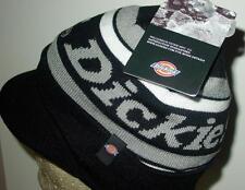 NWT Licensed Dickies Workwear Billed Knit Beanie Hat Black/Gray Last Ones! CR