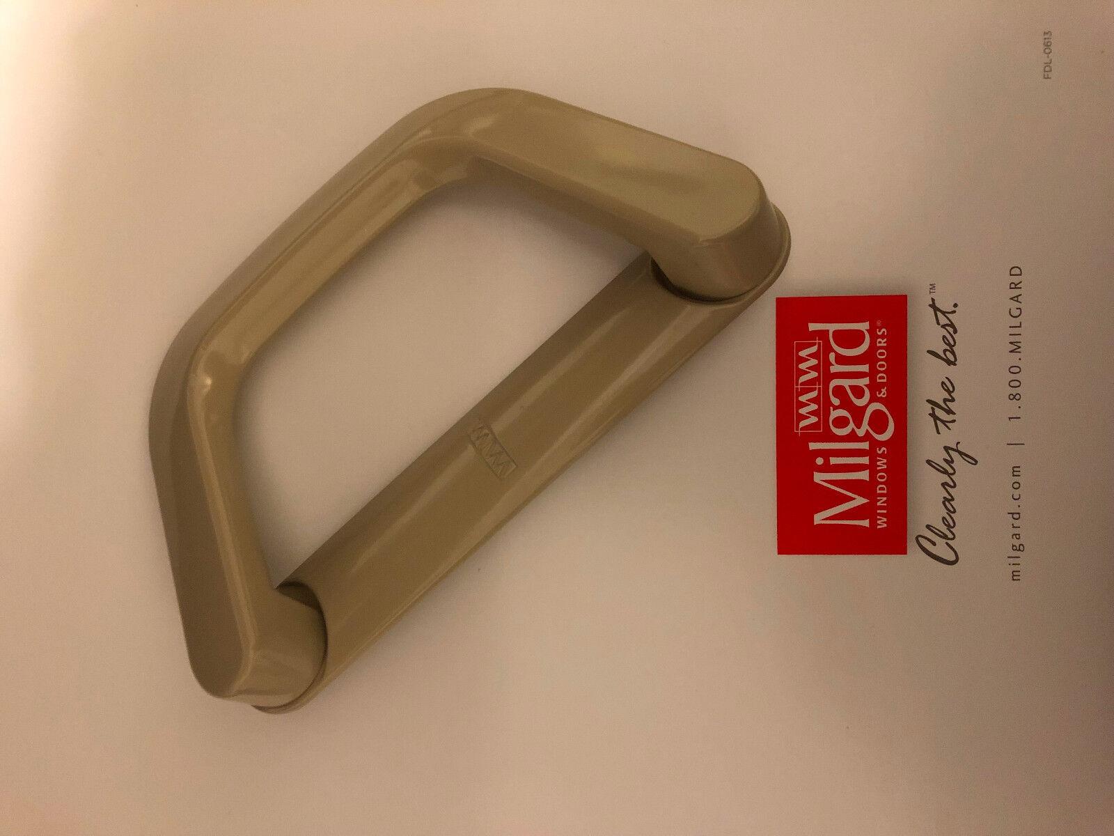 Milgard Sliding Door Handle set Classic Style D Handle Full Set TAN Color